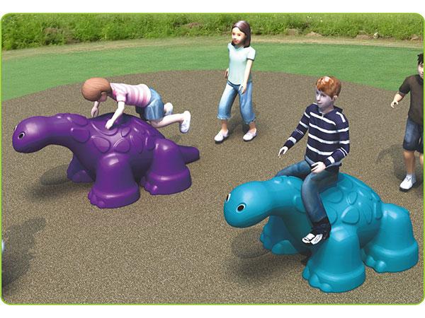 Voedselkwaliteit LLDPE kinderspeelgoed vir kinders buite speelterrein Dinosaurus om te klim en te speel