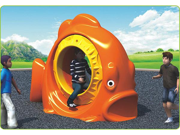 Voedselgraad LLDPE plastiek kinderspeelgoed vir kinders se buitenshuise speelgoed toerusting goudvis draaier om te speel
