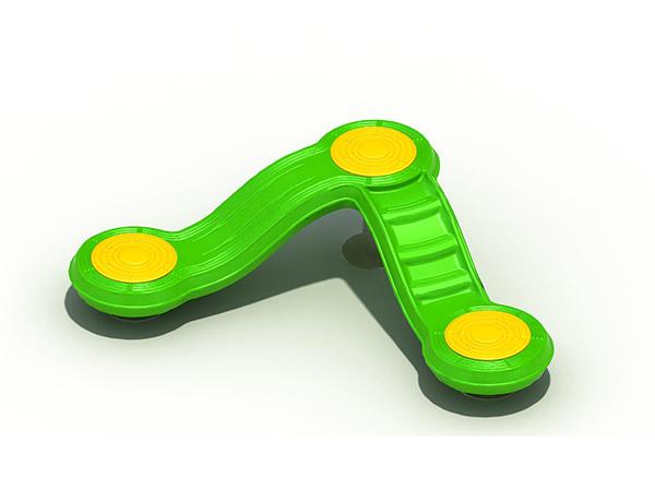 Plastiek kinderspeelgoed vir kinders se speelterrein buite V gly om te speel