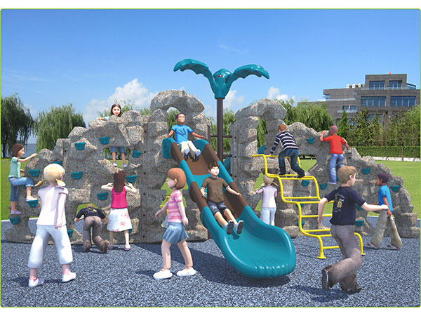 Food-grade LLDPE plastic mountain climber with slide children's outdoor playground equipment indoor playground system to play and climb