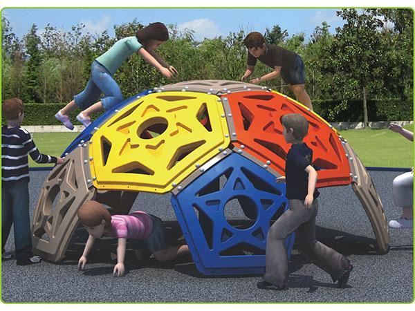 Plastiek koepelklimmer kinderspeelgoed vir kinders se speelterrein vir buitenshuise binnenshuise speelplek vir speel en klim KQ60192B
