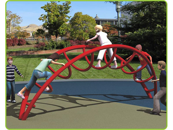 Hot-galvanized steel rainbow climber children's outdoor playground equipment outdoor climbing system to play and climb