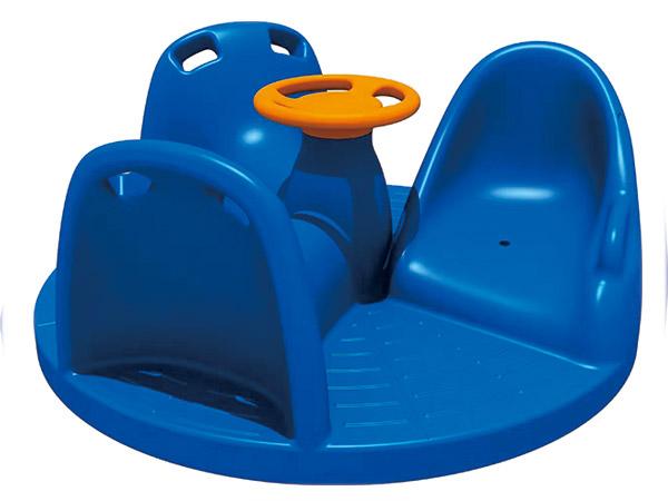 LLDPE Plastic three seats Merry go round kids outdoor playground equipment children's amusement playground
