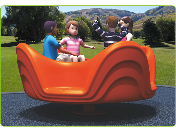 Four seats Plastic Merry go round for outdoor playground