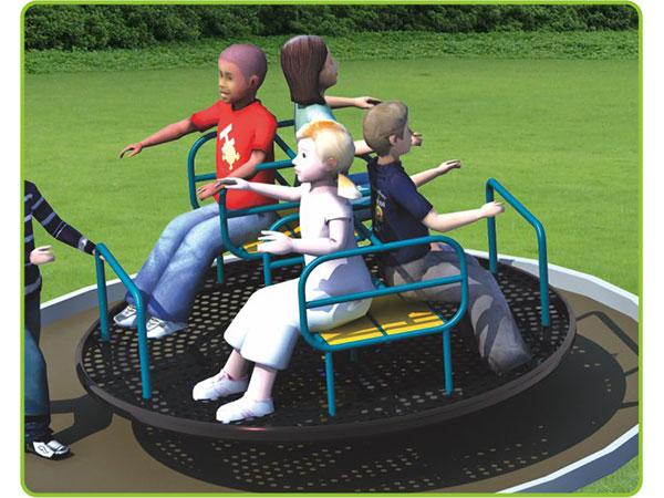 Hot-galvanized steel Merry go round for kids children's amusement outdoor playground KQ60195I