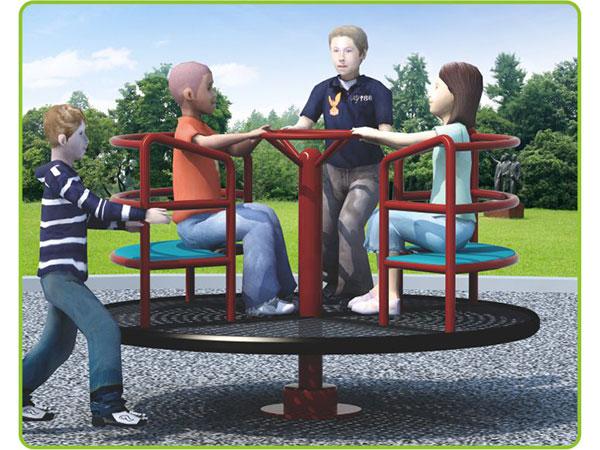 Hot-galvanized steel Merry go round for kids children's amusement outdoor playground KQ60195L