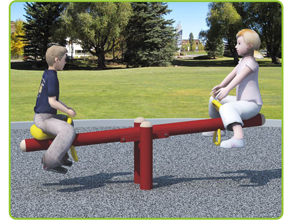 Seesaw for children to play in outdoor playground