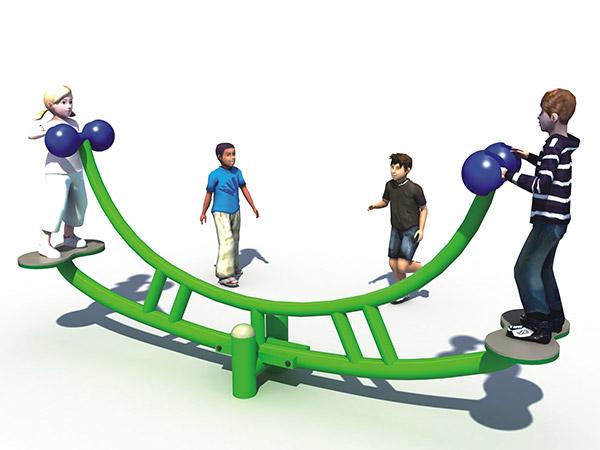 Outdoor amusement park seesaw