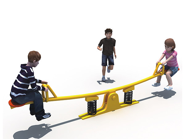 Outdoor amusement park seesaw made in china
