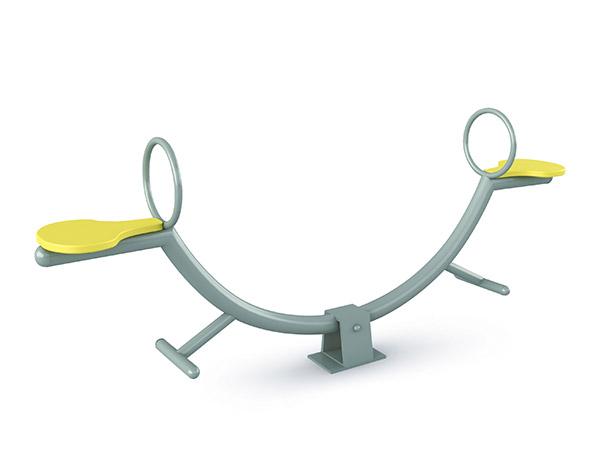 Buitelug pretpark wipplank in C-vorm