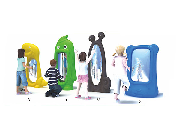 Distorting mirror for kids to have fun