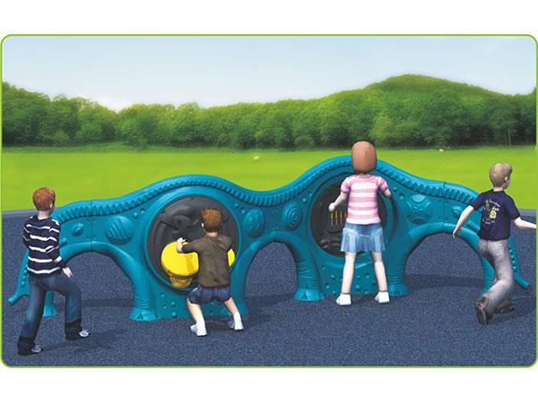 Plastic Play panels on elephant fence