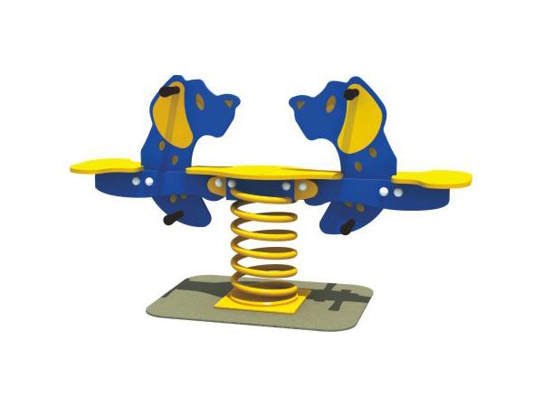 Double seats dog Spring rider for kindergarten