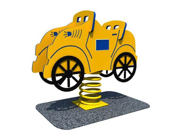 Freestanding playground spring toy