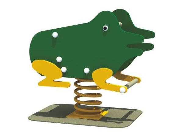 Kids playground Spring rock Frog