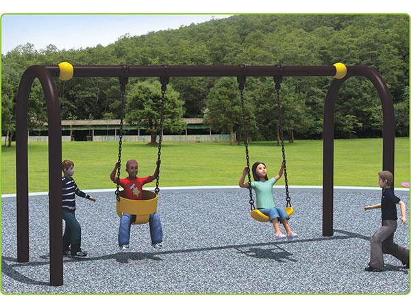 U-shape swing set with 2 seats