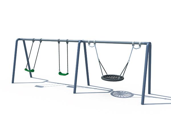 A-shape swing set for backyard