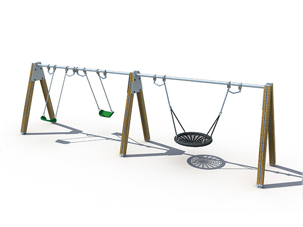 A-shape swing set for backyard for kids to play