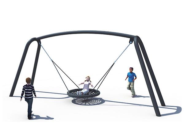 Buitenswaai -stel vir kinders om in die park te speel
