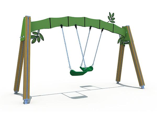 Swaai stel met versiering vir kinders om in die kleuterskool te speel