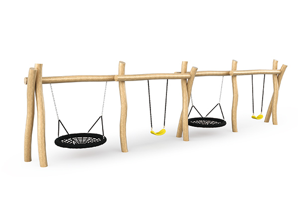 Swing set made of solid wood made in China